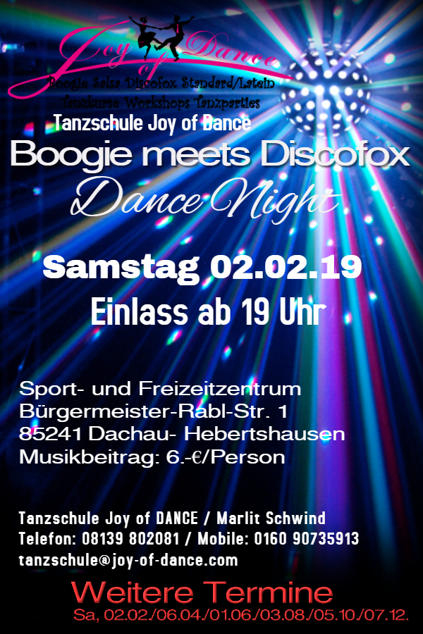 Boogie meets Discofox Tanzparty Feb 2019