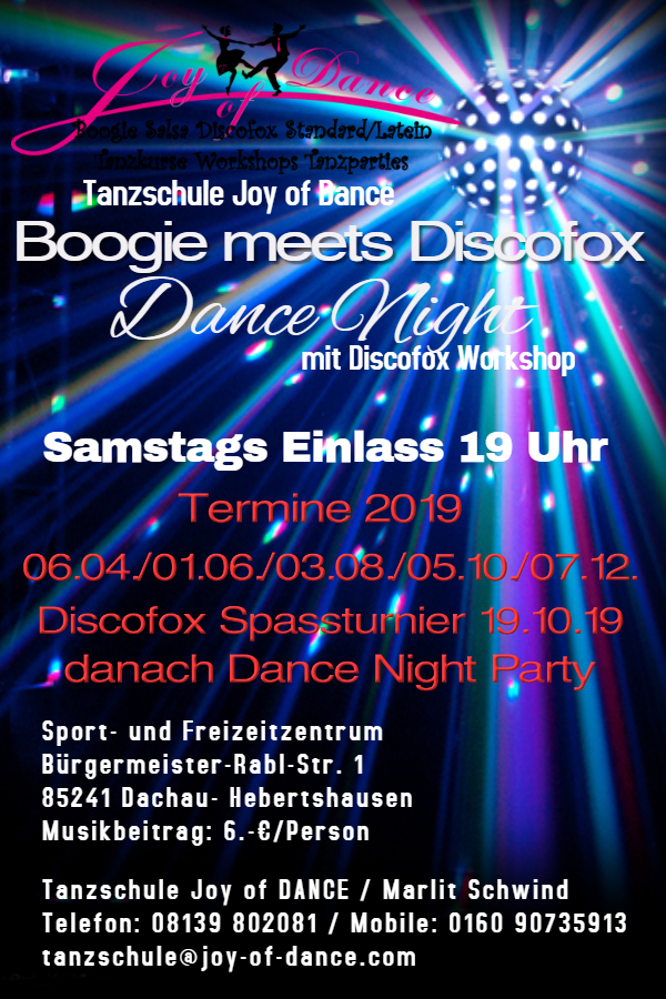 Boogie meets Discofox Dance Night