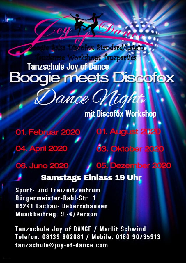 Boogie meets Discofox DanceNight
